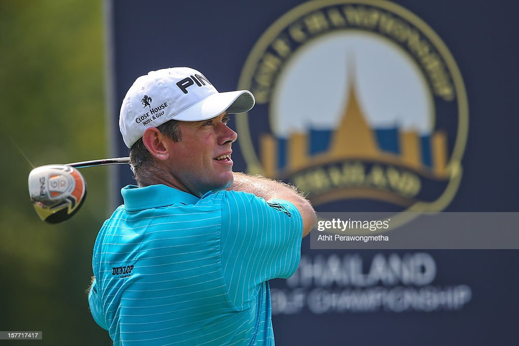Lee Westwood of England plays a shot during round one of the Thailand Golf Championship at Amata Spring Country Club on December 6, 2012 in Bangkok, Thailand.