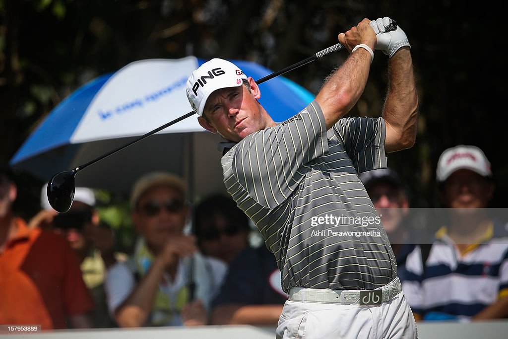 Lee Westwood of England plays a shot during round three of the Thailand Golf Championship at Amata Spring Country Club on December 8, 2012 in Bangkok, Thailand.
