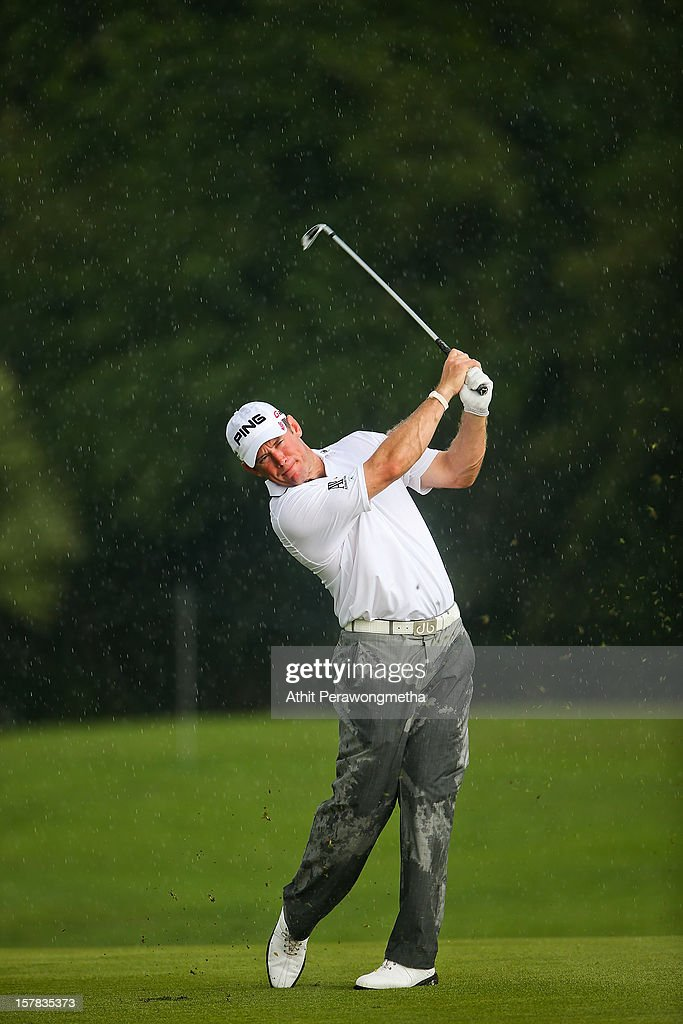Lee Westwood of England plays a shot during round two of the Thailand Golf Championship at Amata Spring Country Club on December 7, 2012 in Bangkok, Thailand.