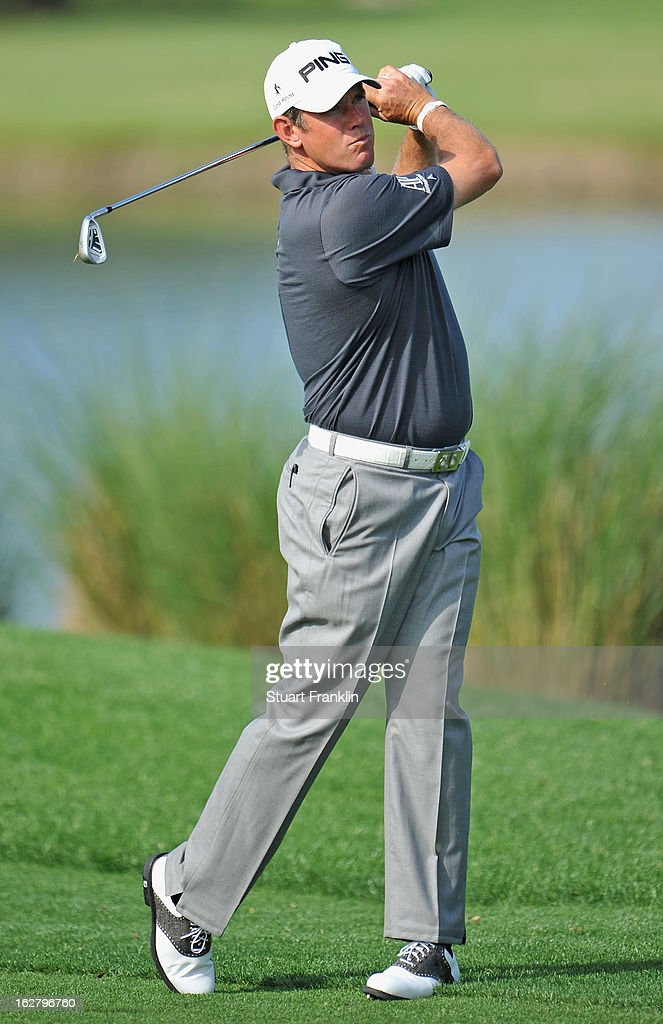Lee Westwood of England plays a shot during the pro am of the Honda Classic at PGA National on February, 2013 in Palm Beach Gardens, Florida