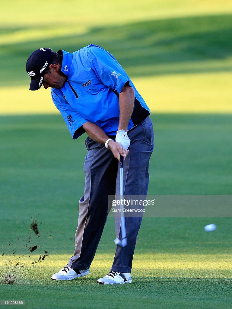 Lee Westwood of England plays a shot on the first hole during the first round of the Arnold Palmer Invitational presented by MasterCard at the Bay Hill Club and Lodge on March 21, 2013 in Orlando, Florida.