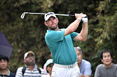 Lee Westwood of England plays the shot during the final round of the 2015 Thailand Open at Amata Spring Country Club on December 13 2015 in Chon Buri...