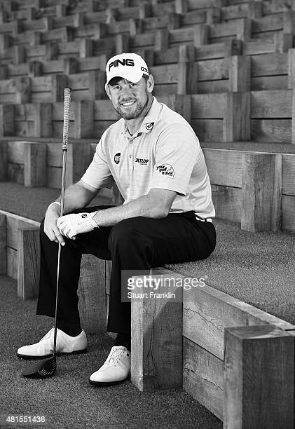 Lee Westwood of England poses for a picture prior to the start of the Omega European Masters at CranssurSierre Golf Club on July 22 2015 in...