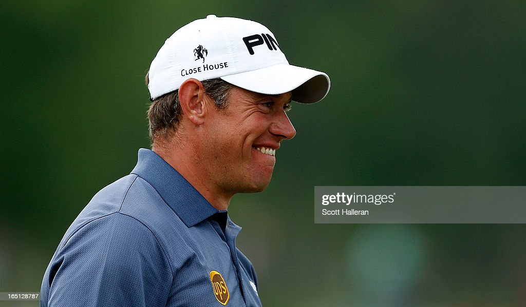 <a gi-track='captionPersonalityLinkClicked' href=/galleries/search?phrase=Lee+Westwood&family=editorial&specificpeople=171611 ng-click='$event.stopPropagation()'>Lee Westwood</a> of England reacts to his chip on the 15th hole during the final round of the Shell Houston Open at the Redstone Golf Club on March 31, 2013 in Humble, Texas.