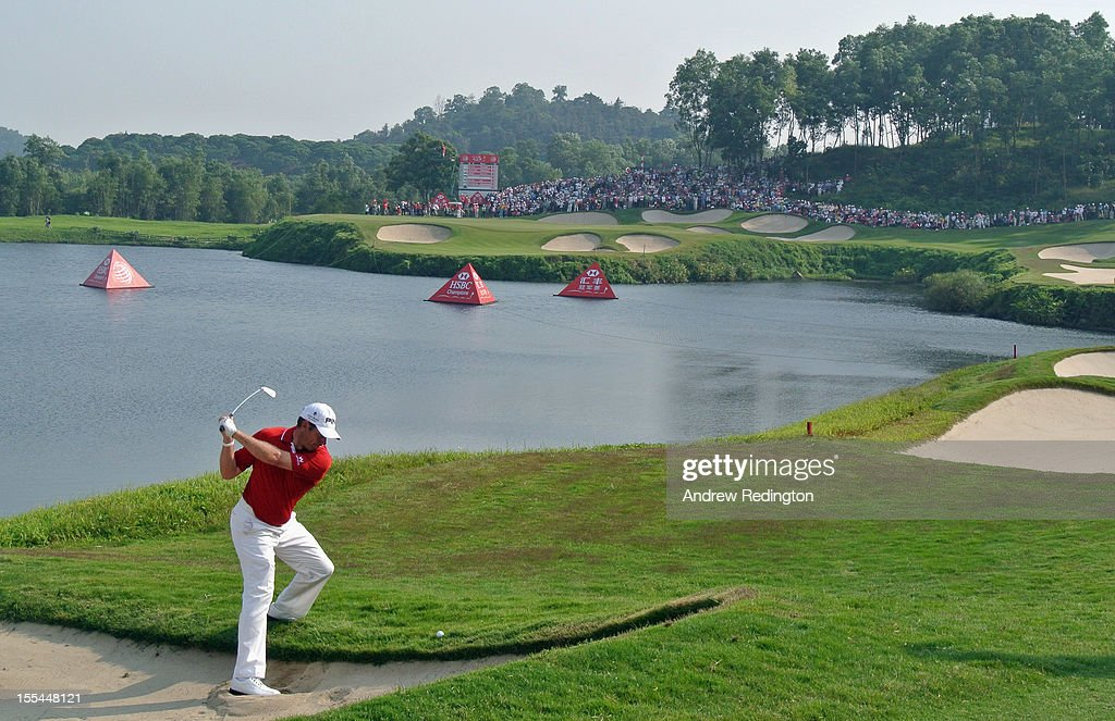 Lee Westwood of the USA in action during the final round of the WGC HSBC Champions at the Mission Hills Resort on November 4, 2012 in Shenzhen, China.