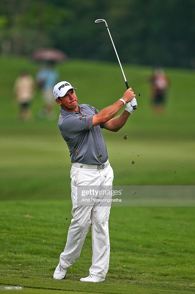 Lee Westwook of England plays a shot during round four of the Thailand Golf Championship at Amata Spring Country Club on December 9, 2012 in Bangkok, Thailand.