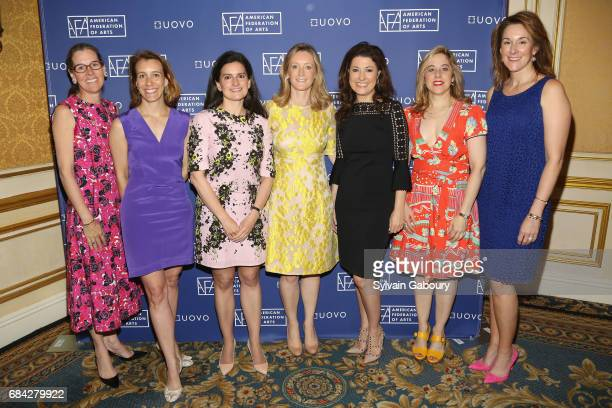 Lee White Galvis Ashleigh Fernandez Jennifer Wright Clare McKeon Capera Ryan Elizabeth Belfer and Jennifer New attend American Federation of Arts...