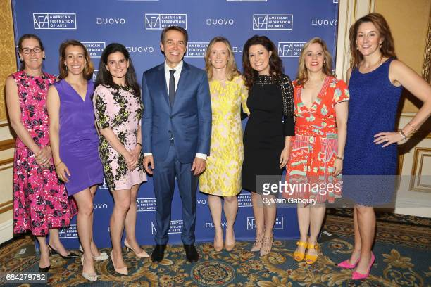 Lee White Galvis Ashleigh Fernandez Jennifer Wright Jeff Koons Clare McKeon Capera Ryan Elizabeth Belfer and Jennifer New attend American Federation...