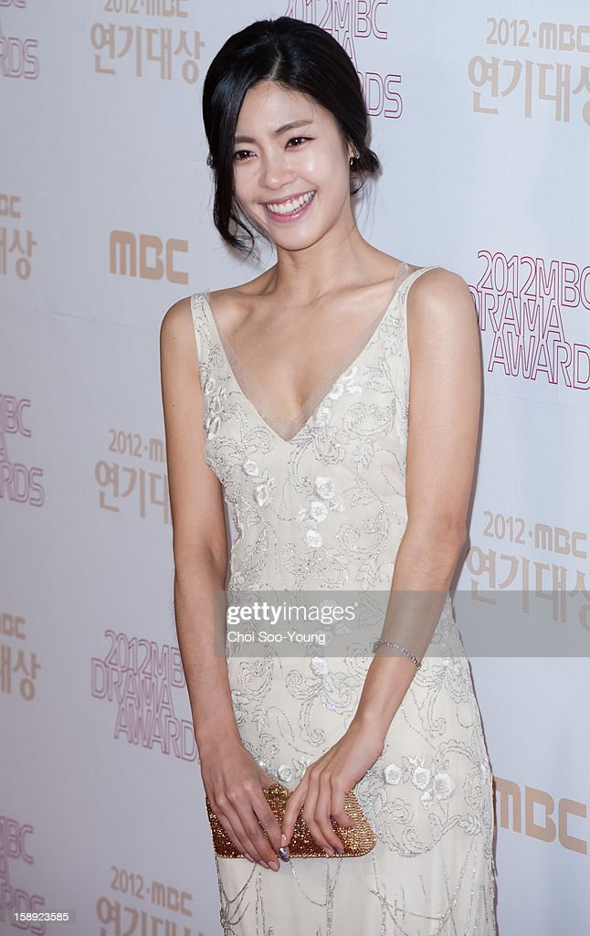 Lee Yoon-Ji poses for photographs upon arrival during the 2012 MBC Drama Awards at MBC Open Hall on December 30, 2012 in Seoul, South Korea.