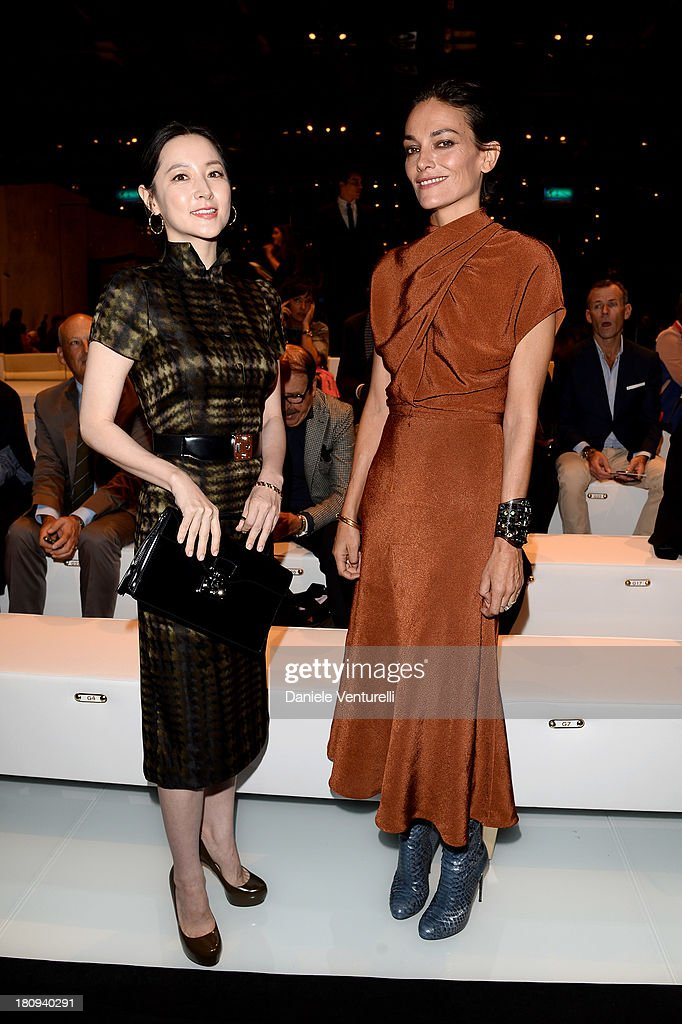 Lee YoungAe and Laura Ponte attend the Gucci show as part of Milan Fashion Week Womenswear Spring/Summer 2014 on September 18 2013 in Milan Italy