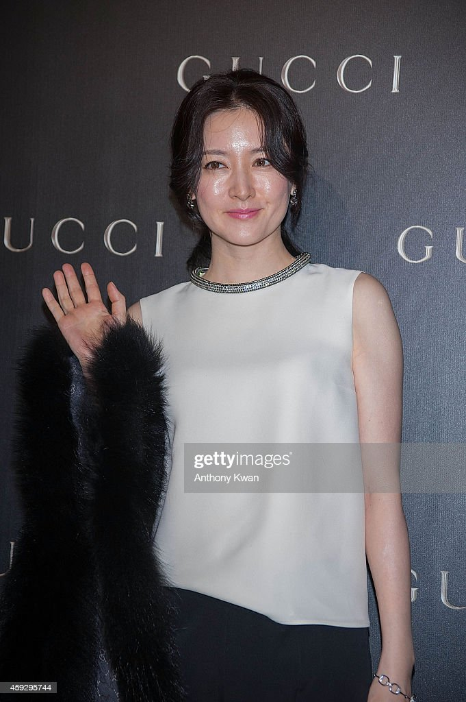 Lee YoungAe arrives 'Gucci Celebrates Flora Knight Collection in Hong Kong with special guests James Franco and Artist Kris Knight' event at...