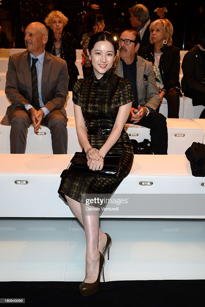 Lee YoungAe attends the Gucci show as part of Milan Fashion Week Womenswear Spring/Summer 2014 on September 18 2013 in Milan Italy