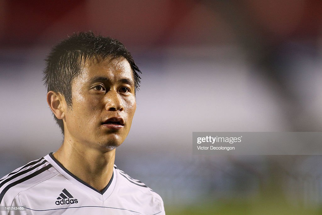 Lee YoungPyo of the Vancouver Whitecaps looks on after their MLS match against Chivas USA at The Home Depot Center on March 17 2012 in Carson...