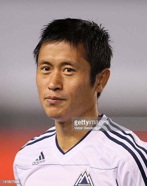 Lee YoungPyo of the Vancouver Whitecaps looks on prior to the MLS match against Chivas USA at The Home Depot Center on March 17 2012 in Carson...