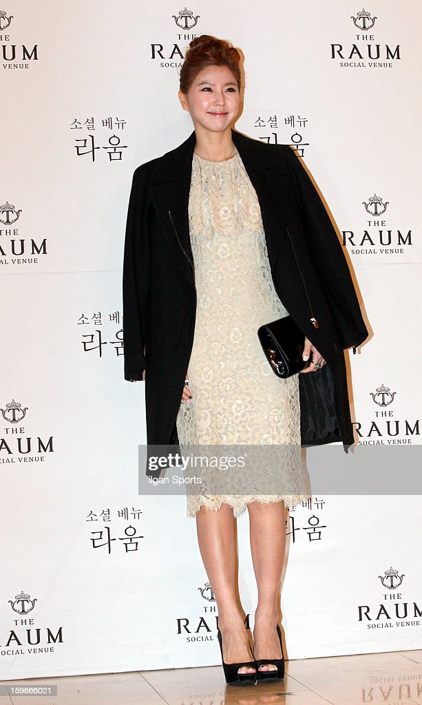 Lee Yun-Mi attends So Yu-Jin's wedding at the Raum on January 19, 2013 in Seoul, South Korea.