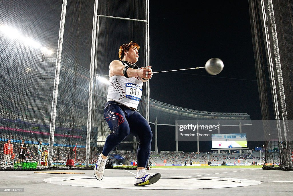 Lee Ywunchul of South Korea competes in the Men's Hammer Throw Final during day eight of the 2014 Asian Games at Incheon Asiad Main Stadium on September 27, 2014 in Incheon, South Korea.