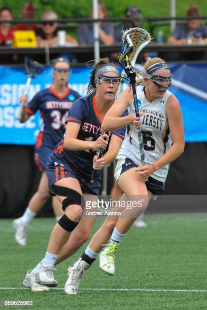 Leeann Bak of College of New Jersey drives to the goal during the Division III Women's Lacrosse Championship held at Kerr Stadium on May 28 2017 in...
