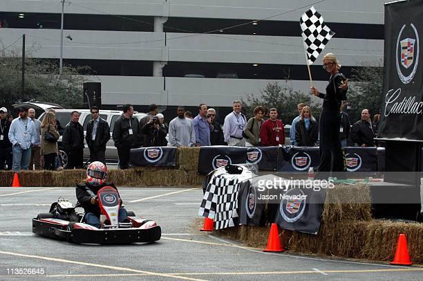 Leeann Tweeden wins the race for the 2nd year in a row as Paris Hilton waves the flag