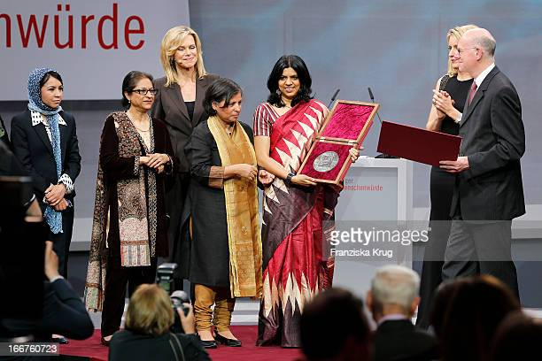 Leeda Yacoobi Asma Jahangir Nina Ruge Suneeta Dhar Kalpana Viswanath Maria Furtwaengler and Norbert Lammert attend the 'Roland Berger Human Dignity...
