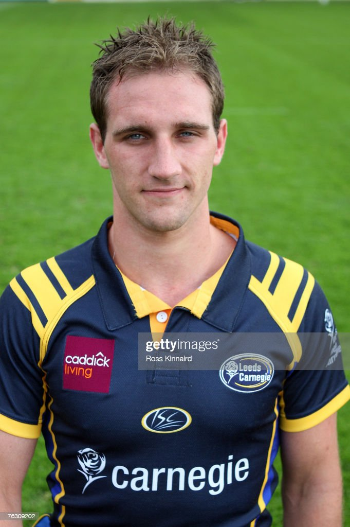 Leeds Carnegie Portrait Session. Andy Rock of Leeds during a photo call at the Headingley Carnegie Stadium on August 20,2007 in Leed, England.