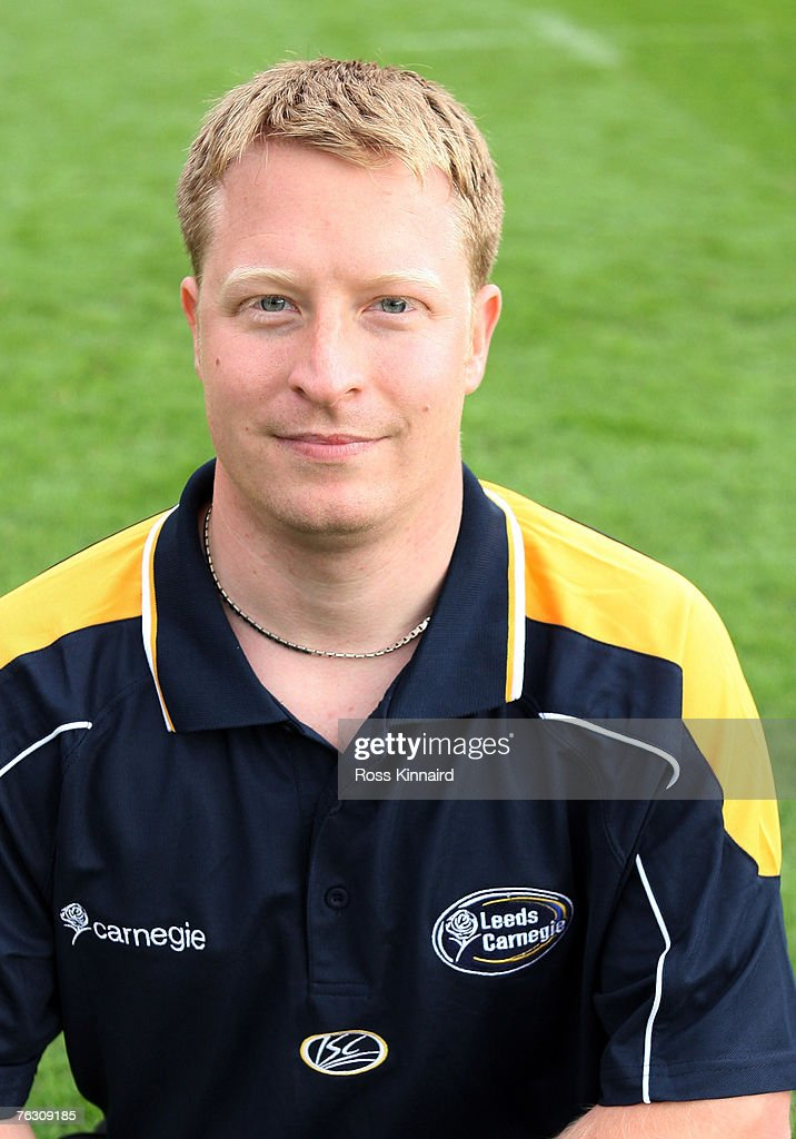 Leeds Carnegie Portrait Session. Dave Stringer (Academy Physiotherapist) of Leeds during a photo call at the Headingley Carnegie Stadium on August 20,2007 in Leed, England.