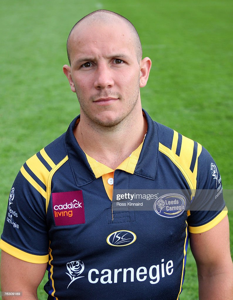 Leeds Carnegie Portrait Session. James Brooks of Leeds during a photo call at the Headingley Carnegie Stadium on August 20,2007 in Leed, England.