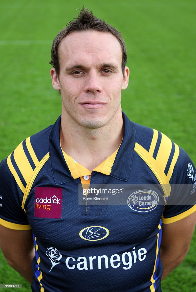 Leeds Carnegie Portrait Session. Leigh Hinton of Leeds during a photo call at the Headingley Carnegie Stadium on August 20,2007 in Leed, England.