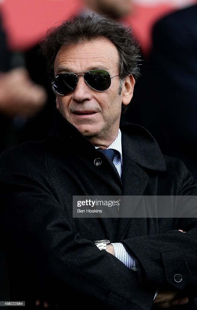 Leeds chairman Massimo Cellino looks on ahead of the Sky Bet Championship match between Cardiff City and Leeds United at Cardiff City Stadium on...