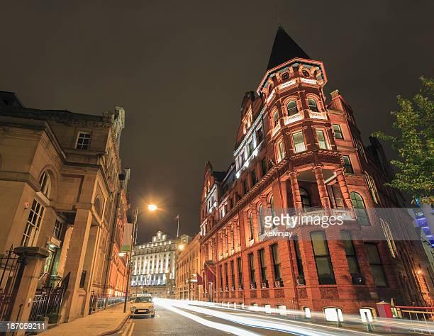 Leeds city centre at night