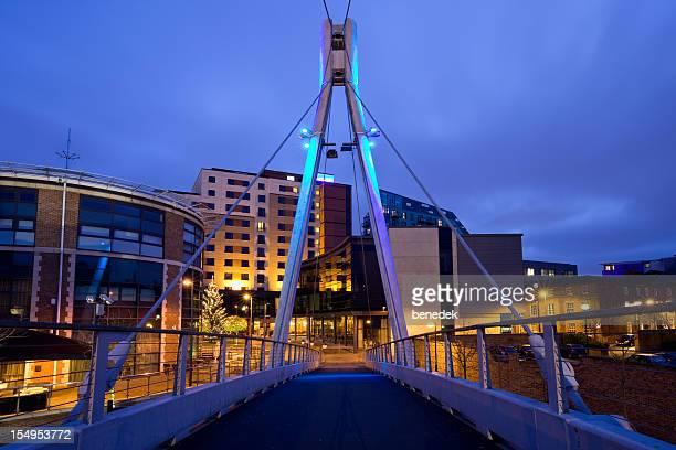 Leeds England UK Footbridge over River Aire