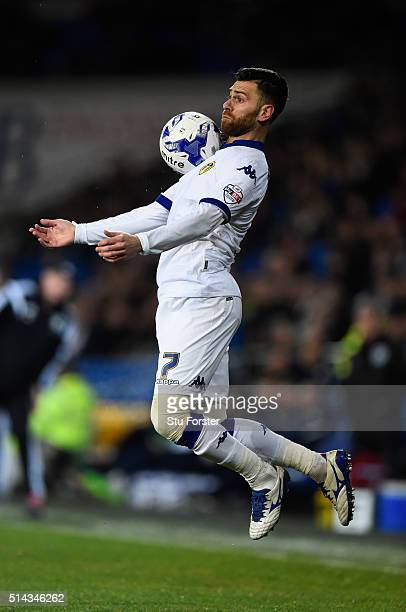 Leeds forward Mirco Antenucci in action during the Sky Bet Championship match between Cardiff City and Leeds United at Cardiff City Stadium on March...