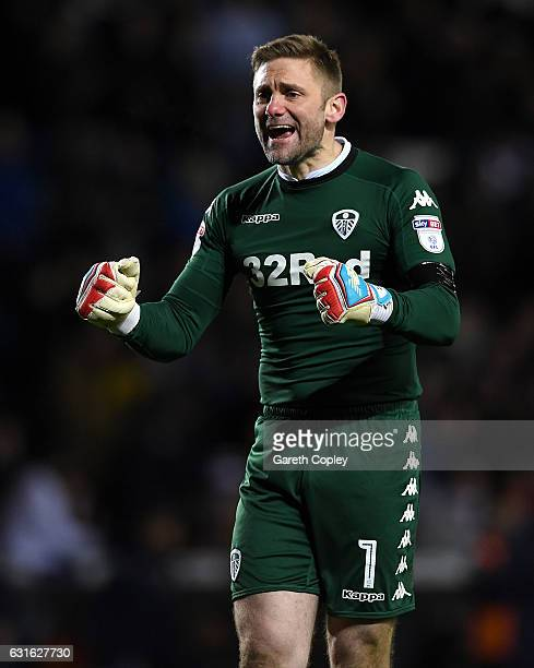 Leeds goalkeeper Rob Green celebrates winning the Sky Bet Championship match between Leeds United and Derby County at Elland Road on January 13 2017...