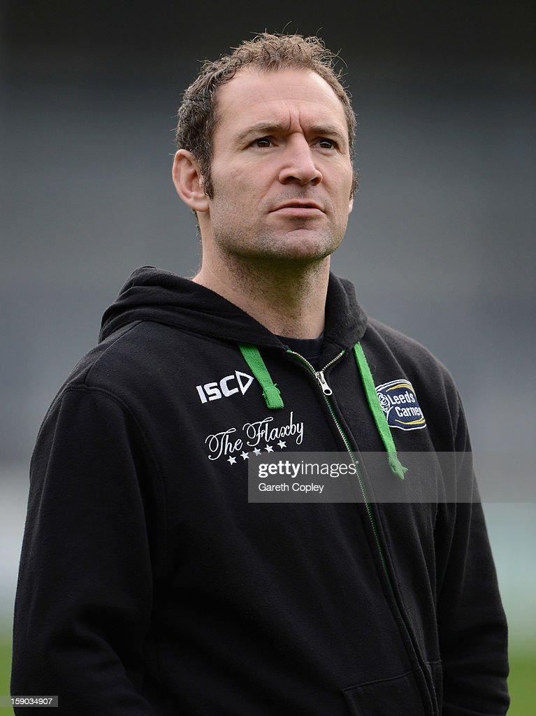 Leeds head coach Diccon Edwards ahead of the RFU Championship match between Leeds Carnegie and Plymouth Albion at Headingley Carnegie Stadium on January 6, 2013 in Leeds, England.