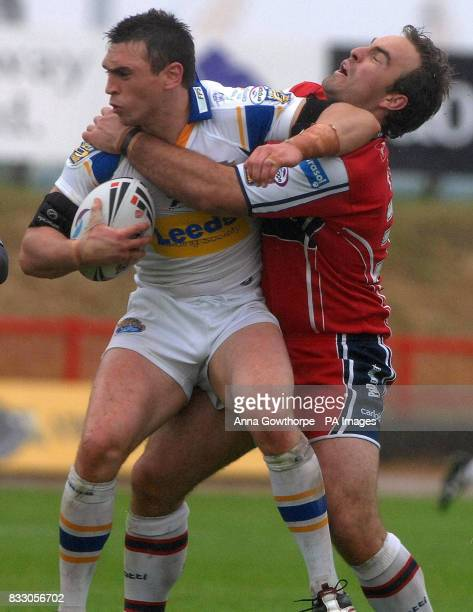 Leed's Kevin Sinfield is tackled by Hull KR's Ryan Tandy during the engage Super League match at Craven Park Stadium Hull