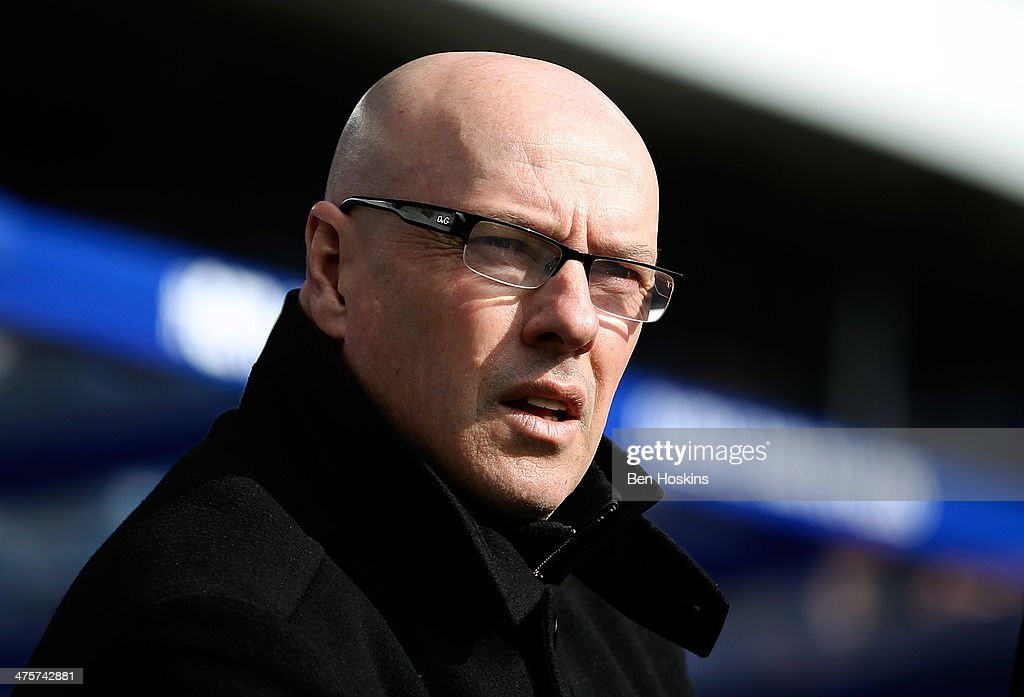 Leeds manager <a gi-track='captionPersonalityLinkClicked' href=/galleries/search?phrase=Brian+McDermott+-+Fotbollstr%C3%A4nare&family=editorial&specificpeople=9647614 ng-click='$event.stopPropagation()'>Brian McDermott</a> looks on ahead of the Sky Bet Championship match between Queens Park Rangers and Leeds United at Loftus Road on March 1, 2014 in London, England.