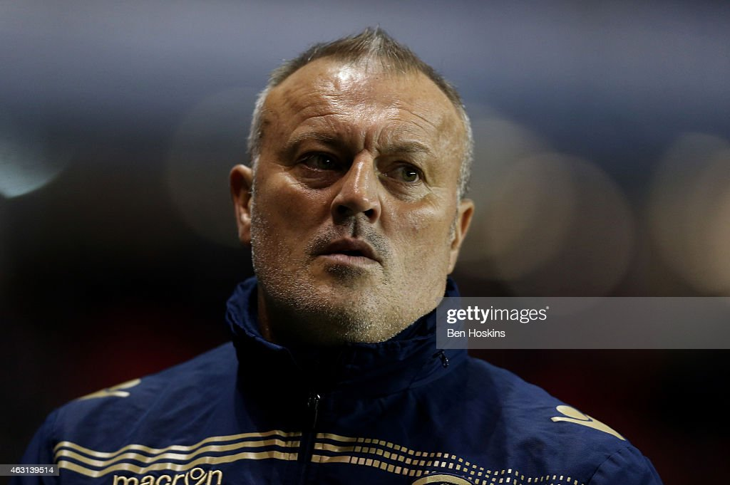 Leeds manager Neil Redfearn looks on ahead of the Sky Bet Championship match between Reading and Leeds United at Madejski Stadium on February 10, 2015 in Reading, England.