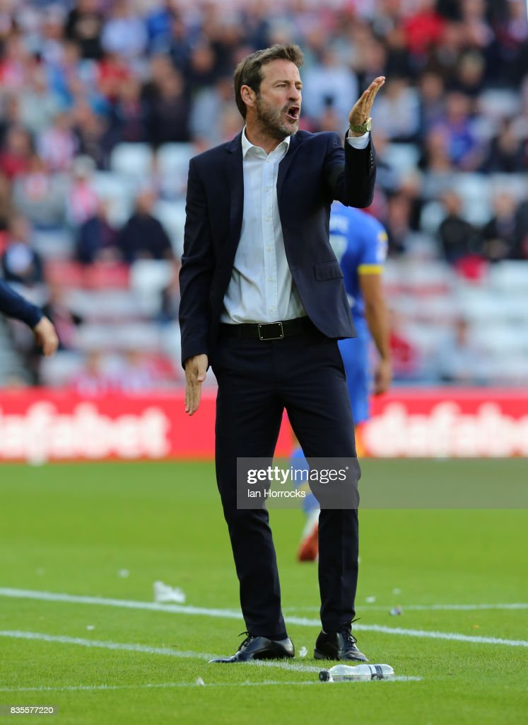 Leeds manager Thomas Christiansen during the Sky Bet Championship match between Sunderland and Leeds United at Stadium of Light on August 19, 2017 in Sunderland, England.