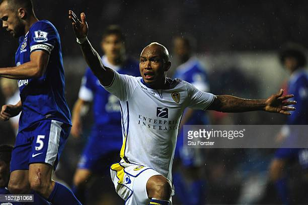 Leeds player ElHadji Diouf in action during the Capital One Cup Third Round match between Leeds United and Everton at Elland Road on September 25...