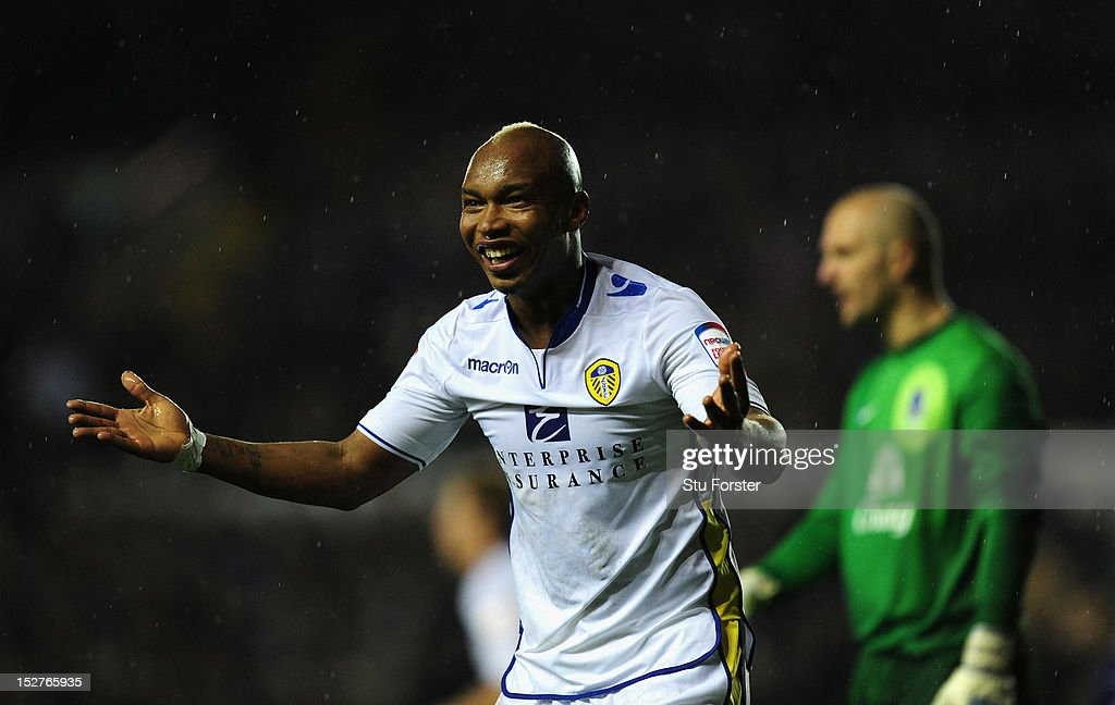 Leeds player ElHadji Diouf reacst during the Capital One Cup Third Round match between Leeds United and Everton at Elland Road on September 25 2012...