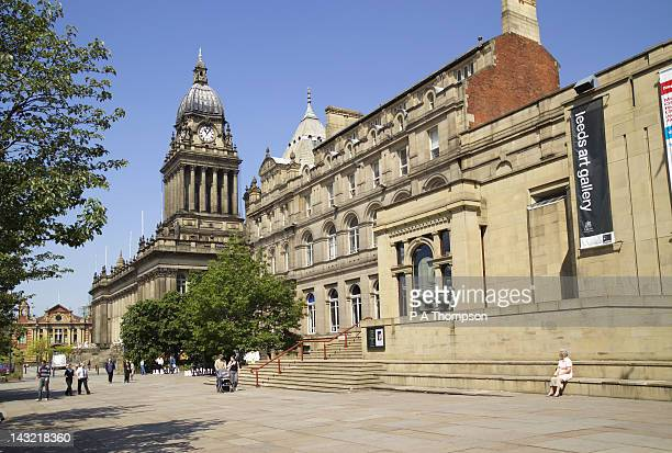 Leeds Town Hall and Art Gallery, Yorkshire, England