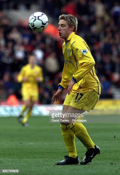 Leed's United Alan Smith in action in the FA Barclaycard Premiership game between Southampton v Leeds United at the St Mary's Stadium...