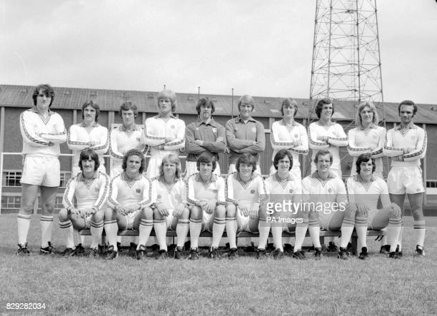 Leeds United at Elland Road ready for the 1977/78 season Back row from left Ray Hankin Carl Harris Trevor Cherry Gordon McQueen David Harvey Dave...