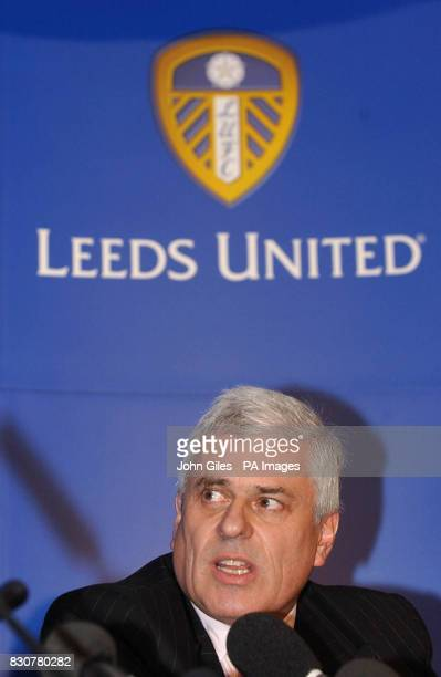 Leeds United Chairman Club Chairman Peter Ridsdale and Press Officer Dave Walker talk about the court case involving two of his players at a press...