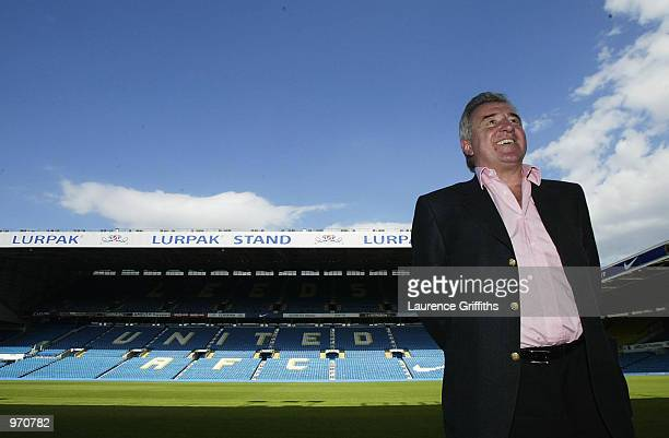 Leeds United football club announce Terry Venables as their new manager at a press conference at Elland Road in Leeds England on July 10 2002