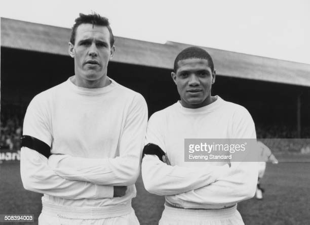 Leeds United footballers Ian Lawson and Albert Johanneson 26th November 1963