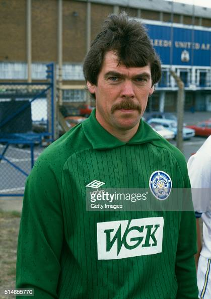 Leeds United goalkeeper David Harvey pictured at the preseason photocall for the 1984/85 season at Elland Road Leeds England
