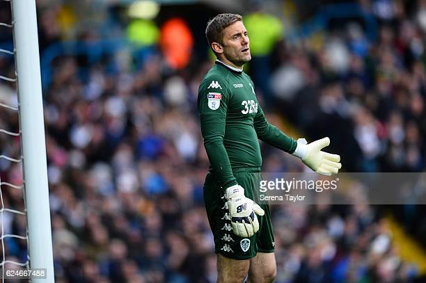 Leeds United Goalkeeper Robert Green holds his hand out looking dejected during the Sky Bet Championship Match between Leeds United and Newcastle...