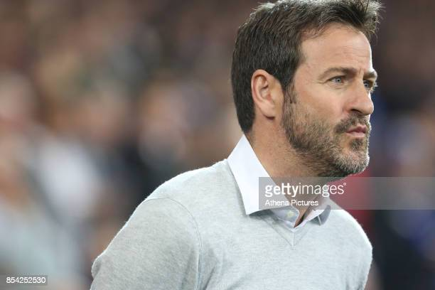 Leeds United head coach Thomas Christiansen prior to kick off of the Sky Bet Championship match between Cardiff City and Leeds United at The Cardiff...