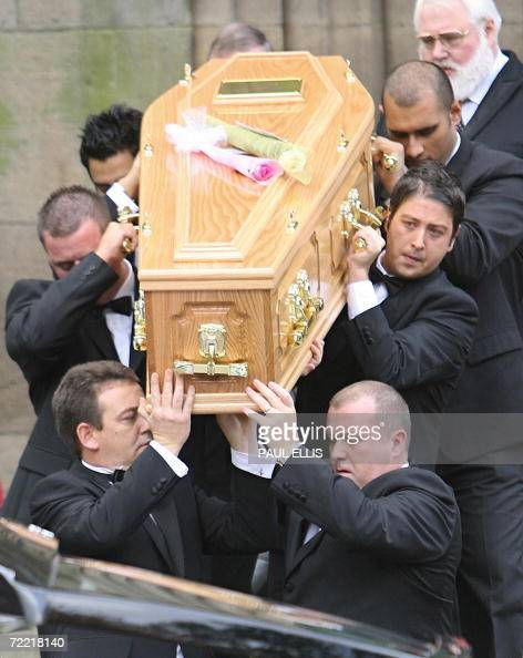 Pall bearers including snooker player Ma Pictures