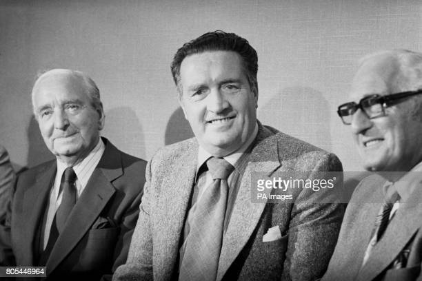 Leeds United Manager Jock Stein with chairman Manny Cussins